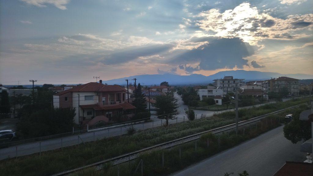Polycastro, Blick vom Balkon