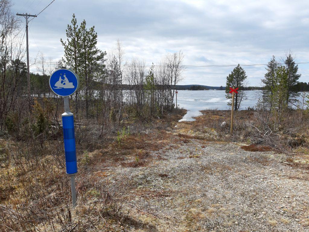 Die Route führt durch den See? Skigebiete