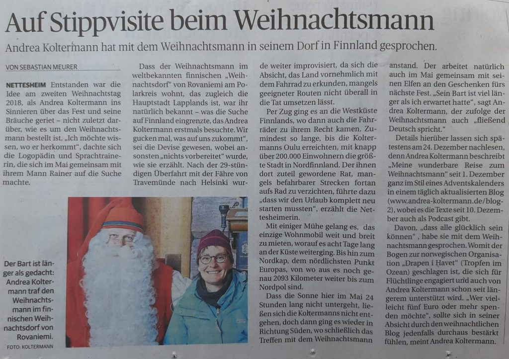 Auf Stippvisite beim Weihnachtsmann - In Finnland heißt er Joulupukki